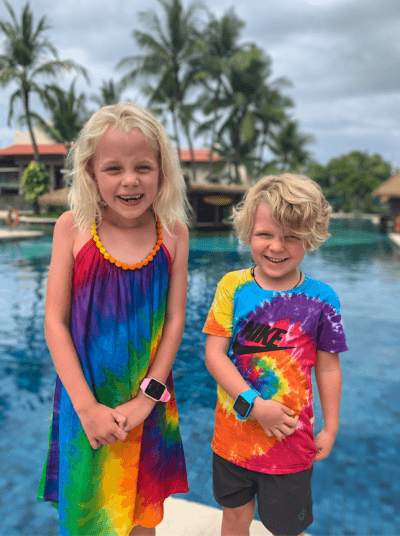 The Davey Family travel to Bali with TicTocTrack